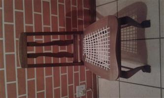 "One Special Black Wood ""Riempies"" Chair in excellent condition"