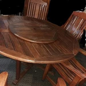 6 Seater solid wood patio set
