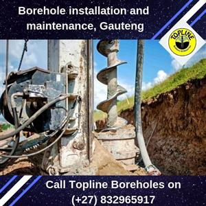 Borehole maintenance and installation in Gauteng by Topline