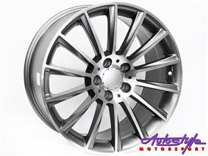 18 inch Evo Z63 5-112 Alloy Wheels - 5 112 pcd - 35 offset - CB73.1 - 8.5j width - sold as a set of 4