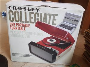 Brand new Record player with secondhand records