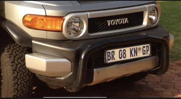 Toyota FJ Cruiser front bumper and mesh cover