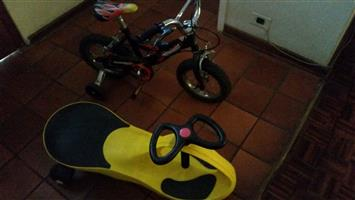 Twist and ride & bicycle with training wheels