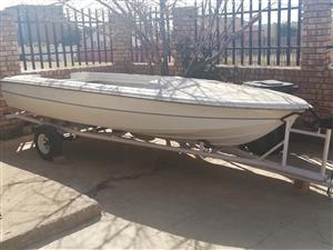 trailer with the boat