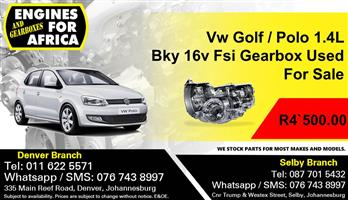 Vw Golf / Polo 1.4L Bky 16v Fsi Gearbox Used For Sale