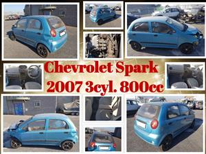 Chevrolet Spark 2007 3cyl. 800cc stripping for spares