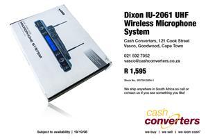 Dixon IU-2061 UHF Wireless Microphone System