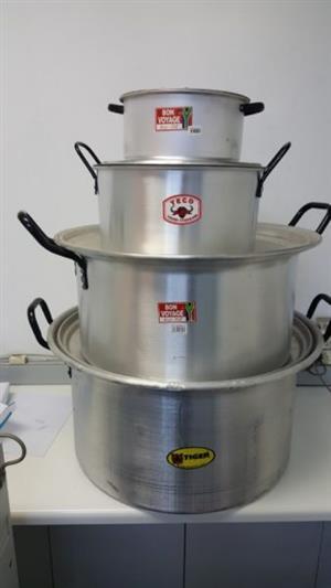 Aluminum Cooking Pots - 26cm, 30L & 60L (See Below for Description & Prices)