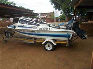 Z Craft with two 30 HP yamaha Engines