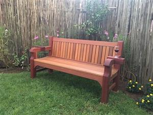 Solid Balau Garden Bench. Newly build.