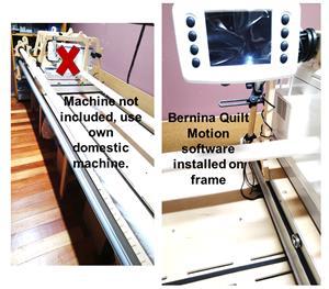 Quilt frame with Quilt Software (Bernina)
