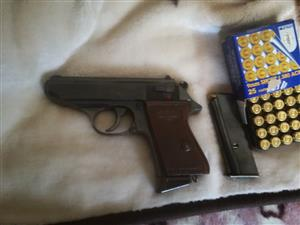 Firearm. Walther ppk 9mms kort