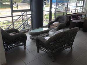 Imported Cane Patio Set Price Reduced