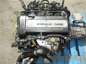 NISSAN SR20DET S13 BLACKTOP ENGINE 5SPEED TRANSMISSION