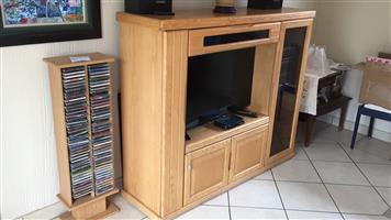 Heavy wood TV cabinet for sale
