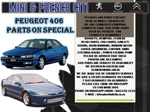 USED PARTS FOR SALE ON PEUGEOT 406, PARTNER