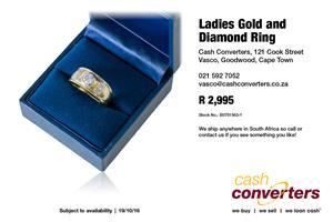 Ladies Gold and Diamond Ring