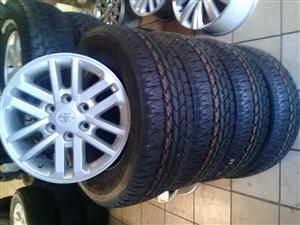 17inch Toyota hilux/fortuner rim for spare, price per rim r1299, we do have new tyres available for them, we do have other mags and tyres in stock, ,