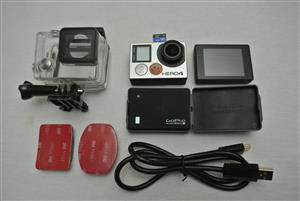 GoPro Hero 4 Black with LCD and Battery BackPack