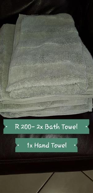 Bath and hand towels white