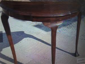 Ball and Claw Half moon table for sale in good condition