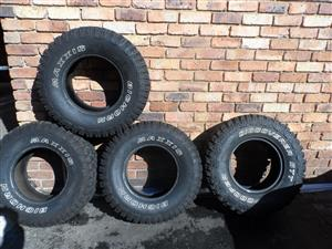 Tyres 31x10 5x15 Mud Terrain 3 X Maxxis Bighorn And 1 X Cooper