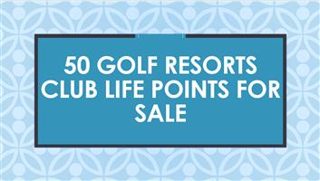 50 Golf Resorts Club life points for sale
