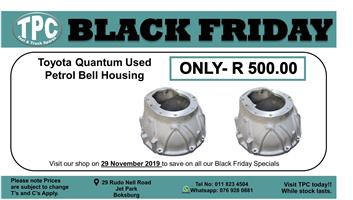 Black friday Toyota Quantum Used Petrol Bell Housing For Sale.