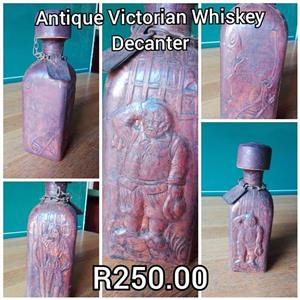 Antique victorian whiskey decanter