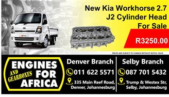 New Kia Workhorse J2 2.7 Cylinder Head For Sale