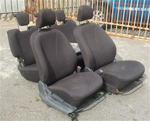 Toyota Yaris Hatchback set of seats for sale.