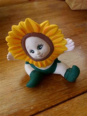 Sunflower baby ceramic ornament