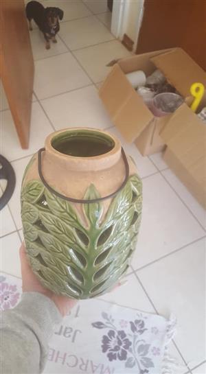 Green leaf vase for sale