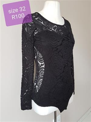 Size 32 black lingerie 1 piece for sale