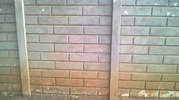 Used Precast Concrete Fencing