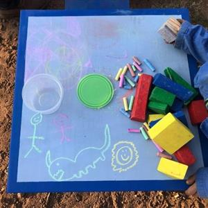 Kids Chalk Tables