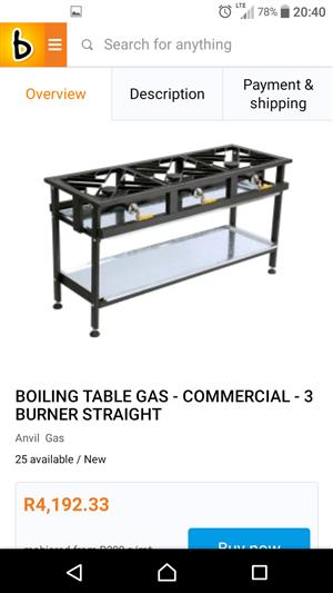 Gas Stove. Industrial Heavy Duty Cast Iron 2 Plate R 1800. Look at attached photo what a new one cost. Uitenhage