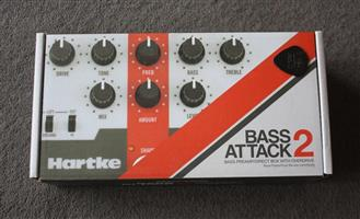 Hartke Bass Attack 2 Bass Guitar Pedal (Brand New in Box)