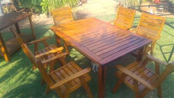 Patio set six seater with server