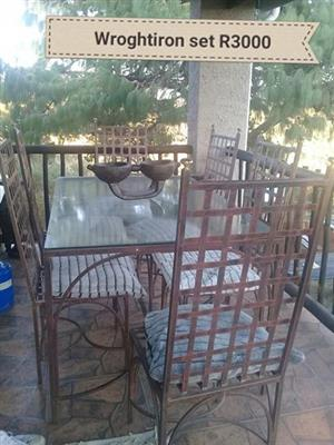 Wrought iron patio set for sale