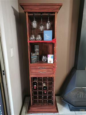 Liquor and or wine cabinet Cottage series 1900 version 2 - Stained