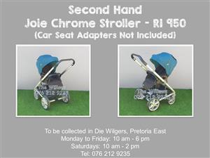 Second Hand Joie Chrome Stroller (Car Seat Adapters Not Included)