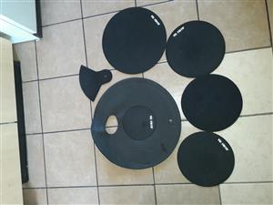 Drummer's set of 5 mute pads for sale.
