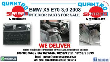 BMW x5 E70 3.0D 2009 interior parts for sale