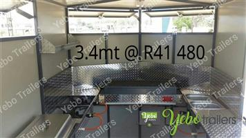 3.4mt Mobile Kitchen Food Trailers available immediately