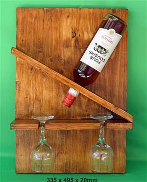 Mini Pallet Wine Rack (New)