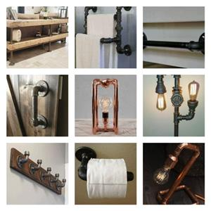 Steampunk design lamps, tables, chairs and other household items