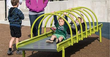 Disabled children playground equipment