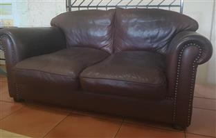 2 Seater brown couch for sale