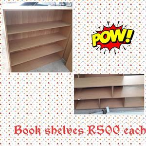 Light wooden bookshelves for sale